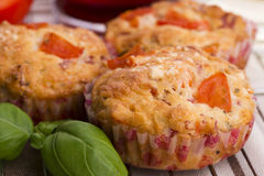 Fresh pizza muffin as a snack Royalty Free Stock Photography