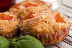 Fresh pizza muffin as a snack Stock Image