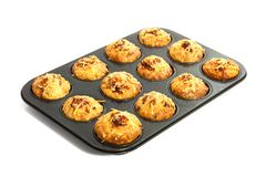 Fresh pizza muffins Royalty Free Stock Images