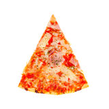 Fresh pizza slice isolated Royalty Free Stock Photo