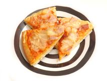 Fresh pizza. Some fresh pizza with ham and cheese Royalty Free Stock Image