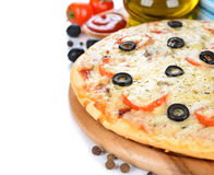 Fresh pizza Stock Photo