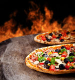 Fresh pizzas Stock Photography