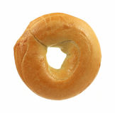 Fresh plain bagel Stock Photos