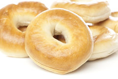 A fresh plain bagel Royalty Free Stock Images