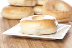 A fresh plain bagel Stock Image