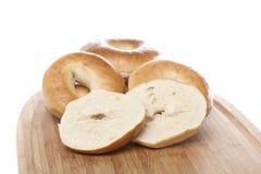 A fresh plain bagel Royalty Free Stock Photos