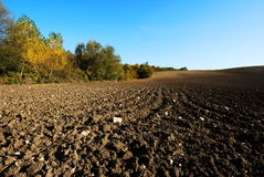 Fresh plowed fields Royalty Free Stock Photo