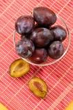Fresh plum Stock Photo