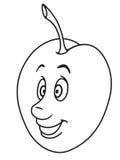 Fresh plum cartoon Stock Images