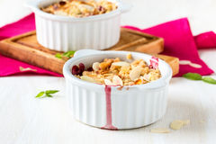 Fresh plum crumble Royalty Free Stock Image