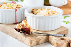 Fresh plum crumble Royalty Free Stock Photography