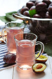Fresh plum drink Royalty Free Stock Image