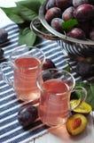 Fresh plum drink Stock Photo