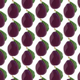 Fresh Plum fruit. Pattern . Vector illustration Royalty Free Stock Photo