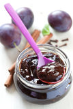 Fresh plum jam Royalty Free Stock Images