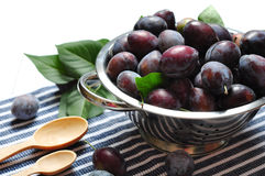 Fresh plum Royalty Free Stock Photos