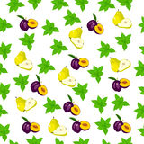 Fresh plum and slice Royalty Free Stock Photos