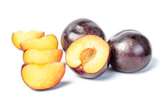 Fresh plum Royalty Free Stock Photos