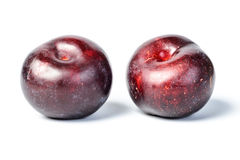 Fresh plum, tilt shift lens Stock Photo