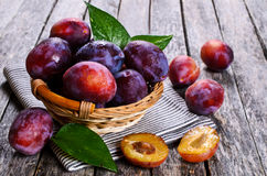Fresh plum Royalty Free Stock Photo