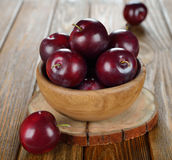 Fresh plums Royalty Free Stock Images