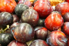 Fresh plums. In the image, there are some fresh plums Royalty Free Stock Photography