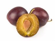 Fresh plums Royalty Free Stock Photo