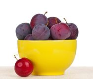 Fresh plums Royalty Free Stock Photos