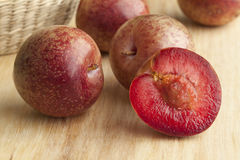 Fresh pluots royalty free stock photography