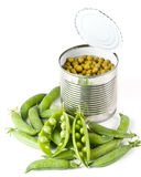 Fresh pods of peas Stock Photos