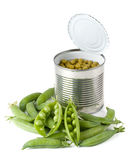 Fresh pods of peas Royalty Free Stock Photo