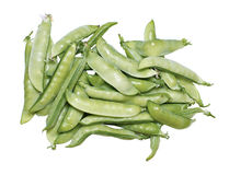 Fresh pods of peas isolated Stock Photo