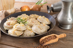 Pierogi with meat Stock Images