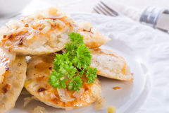 Pierogi with meat Royalty Free Stock Image
