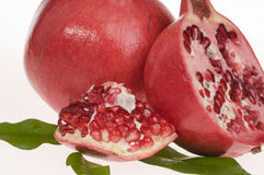 Fresh pomegranat isolated over white Stock Images