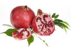 Fresh pomegranat isolated over white Stock Photo