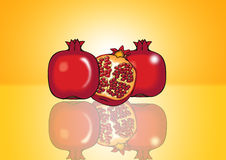 Fresh Pomegranate Royalty Free Stock Images