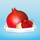 Fresh pomegranate Stock Photo