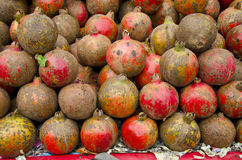 Fresh pomegranate in Delhi  market, India Royalty Free Stock Photography