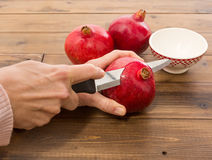Fresh pomegranate Stock Images