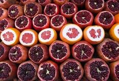 Fresh pomegranate, grapefruit Royalty Free Stock Images