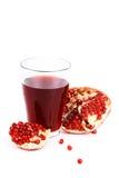 Fresh pomegranate juice Stock Images