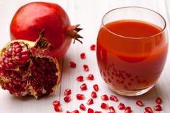 Fresh pomegranate juice Stock Image
