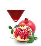 Fresh pomegranate juice Stock Photos