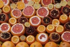 Fresh pomegranate, lemons and oranges at the Grand Bazaar, Istanbul, Turkey Royalty Free Stock Image