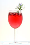 Fresh pomegranate prosecco cocktail summer drink Royalty Free Stock Photo