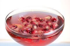 fresh pomegranate prosecco cocktail summer drink Stock Image