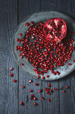 Fresh pomegranate seeds Royalty Free Stock Images