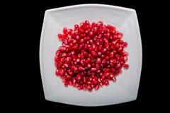Fresh pomegranate seeds Stock Image